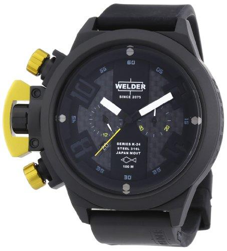 Welder - Reloj unisex de caucho Resistente al agua multicolor
