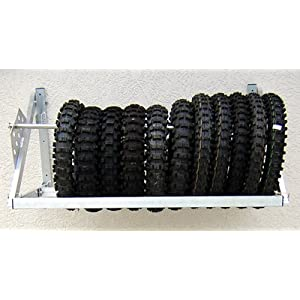 Race Car Motorcycle Kart Cart Karting Tire Rack 4' Holder Trailer Shop Aluminum