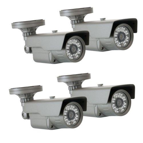 "Gw 4 X 1/3"" Cmos Outdoor Security Camera, 650 Tv Lines, 3.6Mm Lens, 30 Ir Leds, 82 Ft Ir Distance. Low Illumination 0.1 Lux. Metal Vandal Proof & Water Proof"
