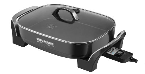 George Foreman Sk0010B Skillite Digital Searing Skillet With Sear Setting And Grease Channel