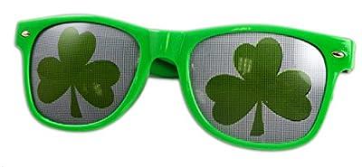 St. Patrick's Day Green Wayfarer Shamrock Sunglasses