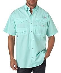 Columbia Men\'s Bonehead Short-Sleeve Work Shirt, Gulf Stream, 3XL