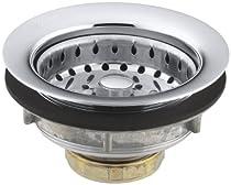 KOHLER K-8814-CP Stainless Steel Sink Strainer, Polished Chrome