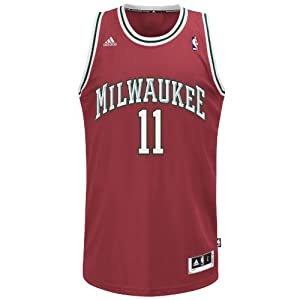 NBA Milwaukee Bucks Red Swingman Jersey Monta Ellis #11 by adidas