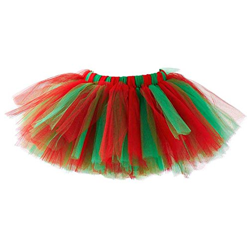 K&K Baby Deluxe Red & Green Tutu 0-18 Mos.