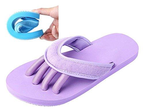 Slip-on Yaga Pantofole Toe separatori doccia sandali da spiaggia mule antiscivolo Sole Ciabatte da piscina bagno Slide per adulti, viola