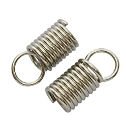 DIY Jewelry Making: 24 pcs Iron Cord End, Platinum Color, about 4.5mm wide, 10mm long, 3.2mm inner diameter, hole: 3.5mm