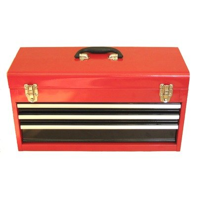 Excel TB133A-Red 21-Inch Portable Steel Tool Box, Red