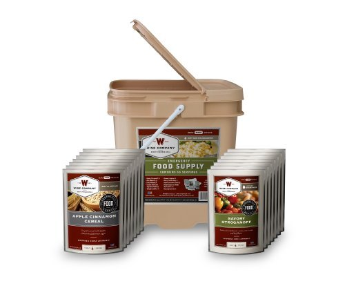 Wise Company 56 Serving Breakfast, Entrée Grab and Go Food Kit (12x12x10-Inch, 12-Pounds)