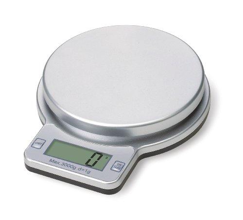 Premier Housewares Balance de cuisine électronique 3 kg (Argenté)