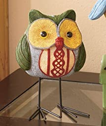 1 X Owl on the Prowl Figure with Metal Feet by LTD Commodities