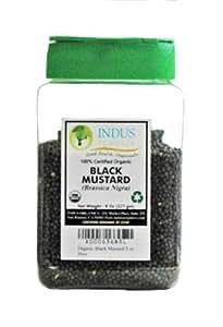 Indus Organic Black Mustard Seeds, 8 Oz