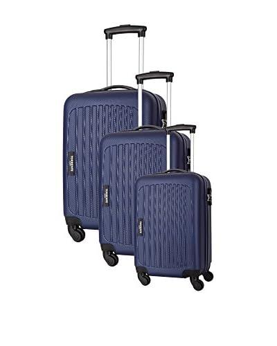 TORRENTE Set de 3 trolleys rígidos Azul Marino