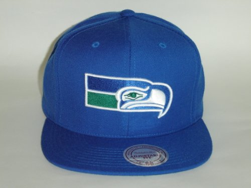 Mitchell-and-Ness-NFL-Seattle-Seahawks-Bold-Royal-Blue-Logo-Snapback-Cap