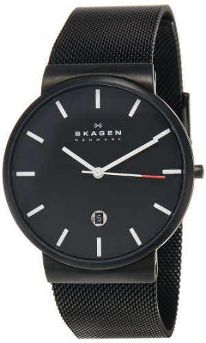 Skagen Men's SKW6053 Ancher Quartz 3 Hand Date Stainless Steel Black Watch