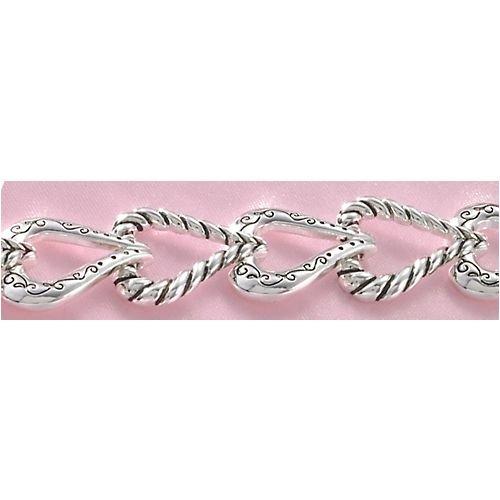 Bay Studio Heart Link Magnetic Bracelet SILVER