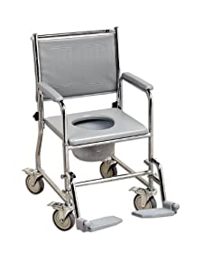 Nrs wheeled commode over toilet chair amazon co uk health amp personal
