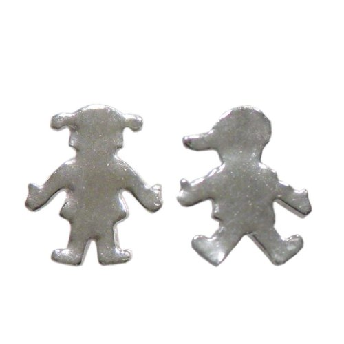 Handmade 925 Sterling Silver Boy and Girl Stud Earrings *Mum* FREE Delivery in UK Gift Wrapped Gifts