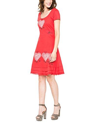 Desigual Damen A-Linie Kleid DAMALIS, Knielang, Gr. 36 (Herstellergröße: M), Rosa (FRESA 3001) thumbnail
