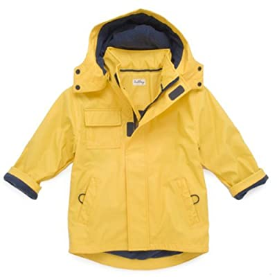 Hatley Boys Waterproof Rain Jacket, Boys Raincoat, Yellow