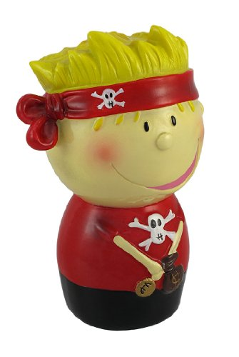 Blonde Pirate With Red Bandana Coin Bank