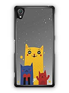 YuBingo Family of Cats Mobile Case Back Cover for Sony Xperia Z2