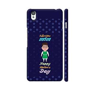 Colorpur I Love You Mom Happy Mother's Day On Blue Polka Dots Artwork On OnePlus X Cover (Designer Mobile Back Case) | Artist: Designer Chennai