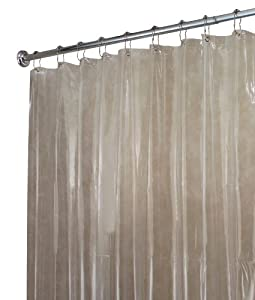 Amazon.com - InterDesign Vinyl Shower Liner, Long 72 x 84, Clear ...