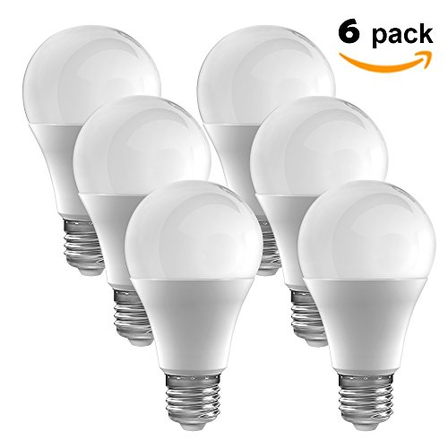 LED Light Bulbs A19 - Daylight 5000K - 60 Watt Equivalent (Pack of 6)