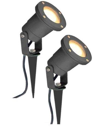2-x-mr16-12v-outdoor-garden-spike-ground-mount-or-watt-light-ip65-matt-black-low-voltage