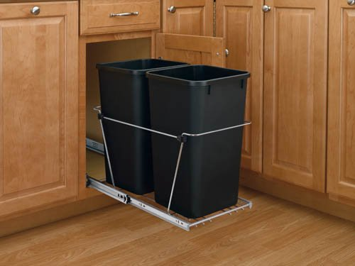 Rev-A-Shelf - RV-15KD-18C S - Double 27 Quart Pullout Waste Containers