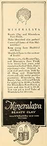 1923 Ad Mineralava Beauty Clay Vivaudou Face Skin Drug - Original Print Ad