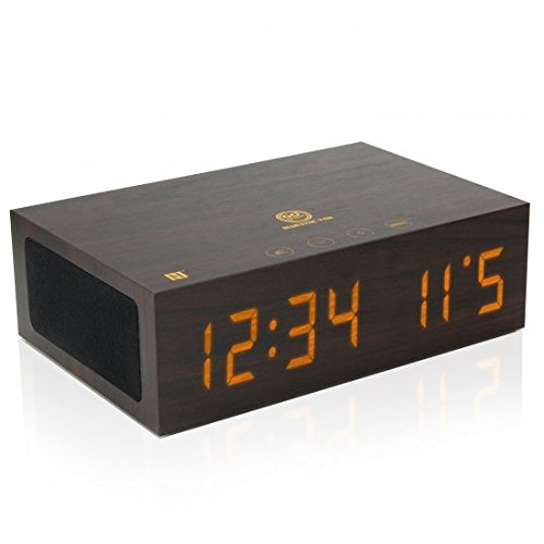 NFC Bluetooth Alarm Clock Speaker System with USB Charging and...