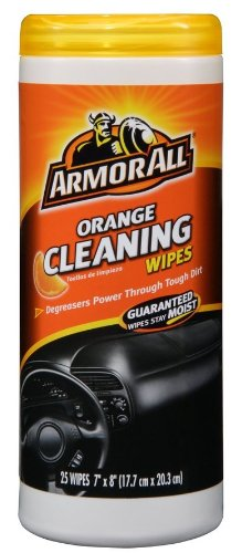 Armor All Orange Cleaning Wipes - Orange Cleaning Wipes with Natural Orange Degreasers 25 Wipes (Pack of 3)