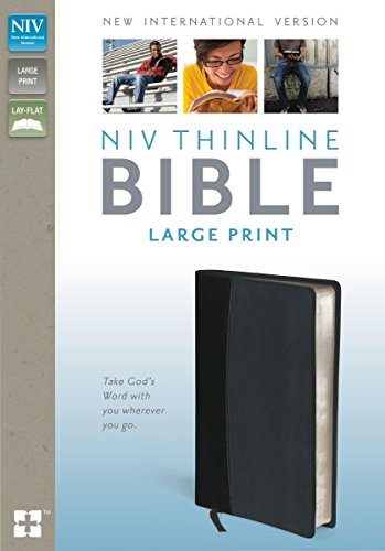 Holy Bible: NIV Black/Tan Italian Duo-Tone Thinline