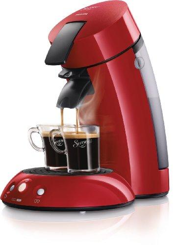 Philips HD7811/92 - Cafetera monodosis Senseo, roja,1450 W, prepara 1 o 2 tazas de café en menos de un minuto, con desconexión automática en 60 minutos, variedad de mezclas y sabores de café