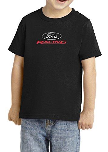 Kids Ford Racing Toddler T-shirt (Small Print), Black, 4T
