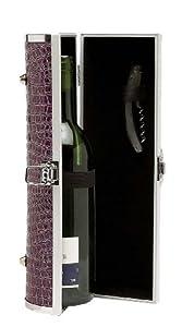 Primeware Gala Wine Purse, Purple Croc