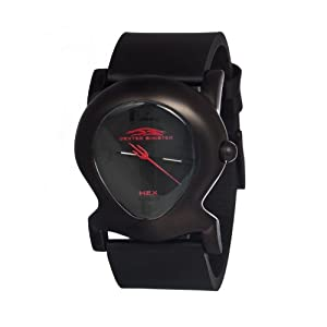 Dexter Sinister Hex Automatic Black Leather And Dial Men's Watch #DSHA-001