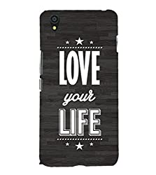 Fiobs Love your life Back Case Cover for YU YUNIC