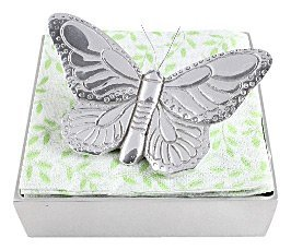 Vivaz Pearls Napkin Box Set, Butterfly, Small, Recycled Aluminum