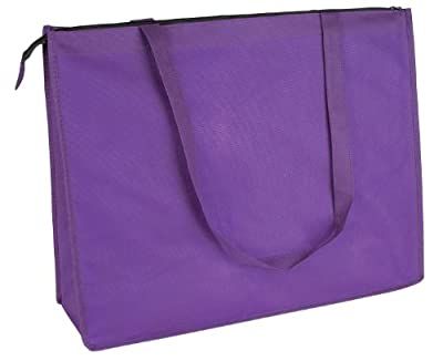 "DALIX 20"" Extra Large Reuseable Shopping Grocery Tote With Zipper Closure (7 Colors)"