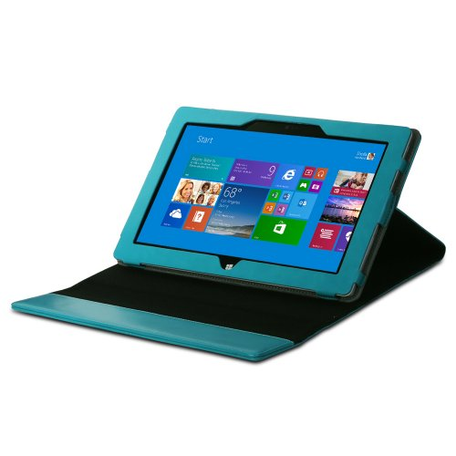 Greatshield Vantage Series Leather Case With Stand For Microsoft Surface Pro / Surface Pro 2 - Retail Packaging (Teal) front-56505