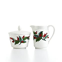 Martha Stewart Collection Holiday Garden Sugar and Creamer Set