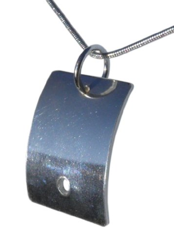 Handmade Solid 925 Sterling Silver Rectangle Pendant / Necklace FREE Delivery in UK - Gift Wrapped