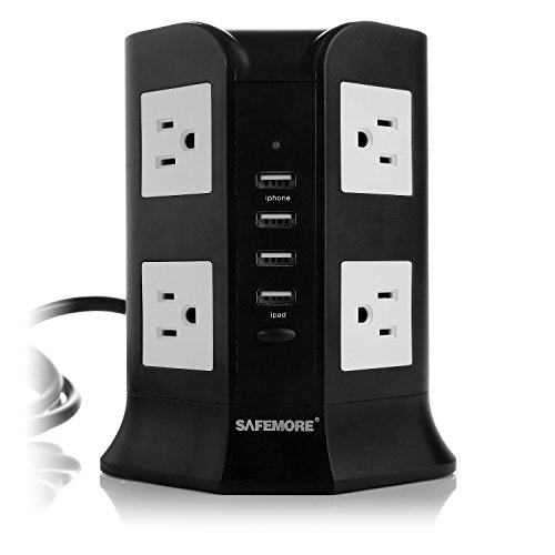 Smart-8-Outlet-with-4-USB-Output-Surge-Protection-Power-Strip-930-Joules-4000W-110-250V-Worldwide-Voltage-Surge-Protector-Power-Socket-4-USB-Charger-Power-Adaper-for-iPhone-6-6-Plus-5S-5-iPad-Air-Mini