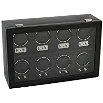 Wolf Designs 270802 Heritage Collection 2.1 Eight Watch Winder with Cover