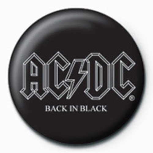 AC/DC - Back in Black Bt 123 - at-668 Button da 2,5 cm