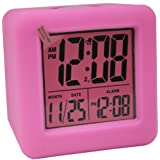 La Crosse Technology 70902 Soft Cube LCD Alarm Clock (Pink)