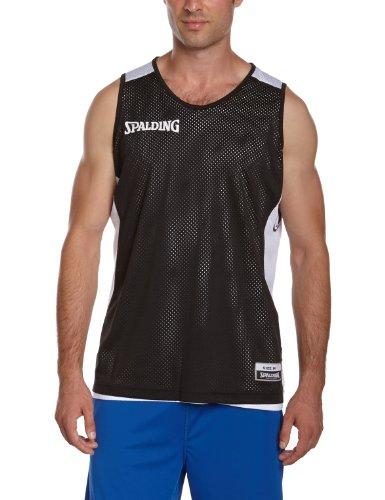 Spalding-Maglietta essenziale, reversibile nero Nero - nero/bianco L